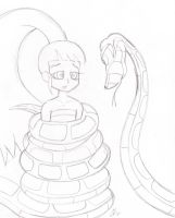 Kaa and Blossom sketch by lol20