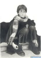 Harry In Hogwarts by Clsportraits