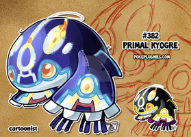 #382 Primal Kyogre by cartoonist