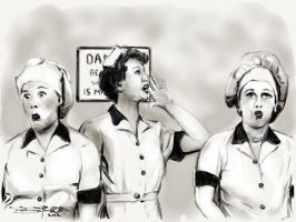 Lucy and Ethel by acostamt