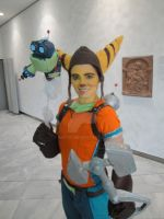 Ratchet, Clank and Mr. Zurkon by NiKcKu