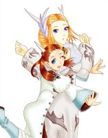 FFXIV - The Senna Sisters by iforher