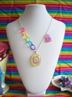 Birthday Cake Resin Necklace by lessthan3chrissy