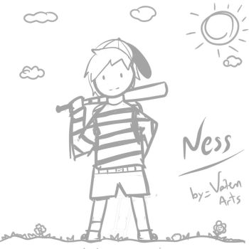 Ness (Doodling #4:Fullbody) by ValenArts