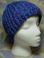 Deep Sea Blues Hat by SmilingMoonCreations