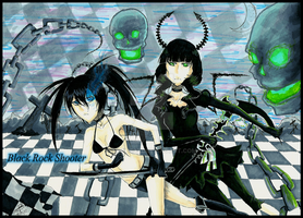 Black Rock Shooter and Dead Master by Mikkie33