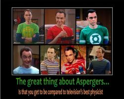 Demotivational: Aspie Sheldon by DeviantAspie