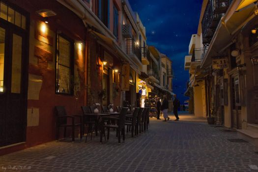 Chania Old Town at Night by BillyNikoll