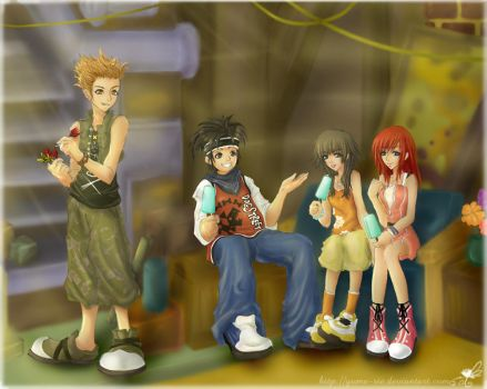 KH2 : Lazy Afternoons by Yume-Rie