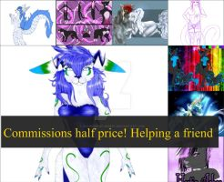 Em. Commissions. Half price - Friends house burned by Business-of-Misery