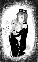Cail Hug -colored- by Mole-Chan