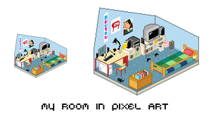 My Room - pixel art by Akutou-san