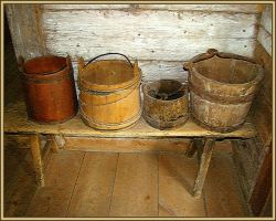 Wood buckets by melnaapantera