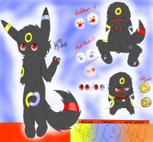 Kino (Umbreon Form)Ref sheet!  by Kinology