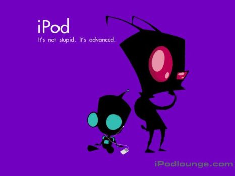 Invader Zim and Ipod by cuddlycactus