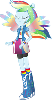 Equestria Girls: Rainbow Dash Rainbowfied by TheShadowStone
