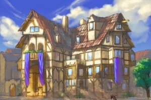 medieval patrician Building by the-John-Doe