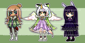 adoptables batch #1 by mahoukuma