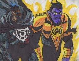Cyborg Superman and Sinestro by ChahlesXavier