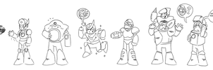The Robot Masters, Mega Man 2 by Nick141292