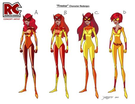 Firestar redesign by RC-draws