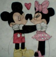 Mickey and Minnie Love by MollyKetty