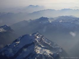 Flying over the Black Alps by nahojis