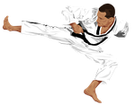 Taekwondo Vector by MaryAnnBubna