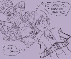 hiccup needs to calm down by limey404