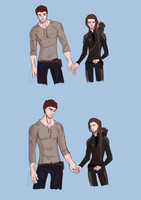Katniss and Gale by SkyDominic