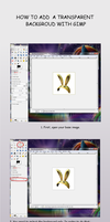 How to add a transparent background in GIMP by PonyLumen