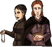 Sansa and Petyr Genderbend by CPatten