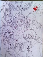 Fairy Tail Team by narcyzus