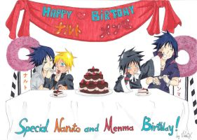 Special Naruto and Menma Birthday! 2012/10/10 by MikaGx