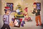 Wishing Everyone a merry NARUTO christmas by sumitmangela
