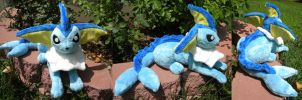 Vaporeon Plushie by PeaceFluffles
