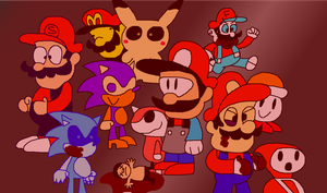 Some pirated game thing I drew by LMF100