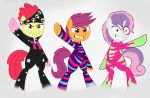 Cutie Mark Crusaders Rainbow Rocks by CogWheel98