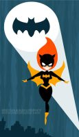 Batgirl Descending by MeghanMurphy