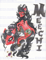 JCA Meechi Sung as a Red Yin Yang MLP Pony by alaer