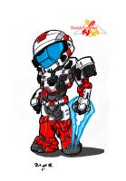 my halo reach character by KingofUndrock