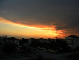 sunset and clouds 3 by voyagerartworkdesign
