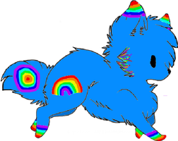 Rainbow Wolf Adopt by Prettyxmouse