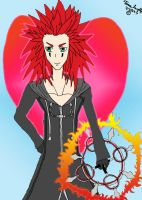 Flaming Axel by desertlilly