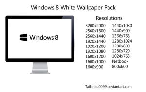 Windows 8 White Wallpaper Pack by Taiketsu0099 by Taiketsu0099