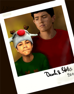 Christmas Polaroid Card by JoelsVoice