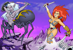 Leo-Na Battles Drider Witch  by curtsibling