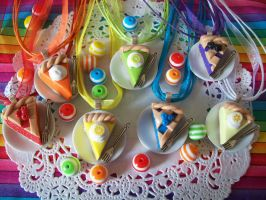 Miniature Pie Slice Necklaces by lessthan3chrissy