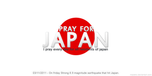 Pray For Japan by mazeko