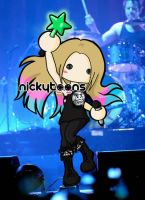Avril Lavigne on Stage by NickyToons
